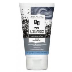 AA Carbon & Clay Żel do mycia twarzy z peeligiem węgiel japoński każda cera 150ml