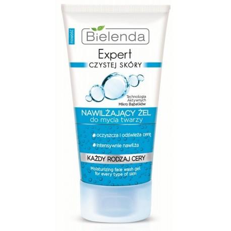Bielenda Expert Czystej Skóry Nawilżający żel do mycia twarzy dla każdego rodzaju cery 150g
