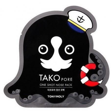 Tonymoly Tako Pore One Shot Nose Pack Plaster na nos oczyszczający pory 1,5g