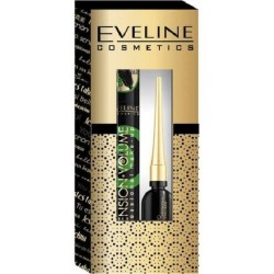 Eveline Extension Volume Mascara Black 10ml + Eyeliner Celebrities Black