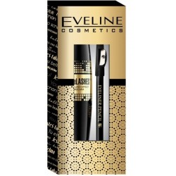Eveline Grand Couture Spectacular Lashes Mascara Black 10ml + Eyeliner Pencil Black 0,28g