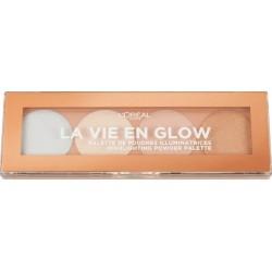 L`Oreal La Vie En Glow Highlighting Powder Palette Paleta rozświetlaczy 02 Cool Glow Eclat Froid 5g