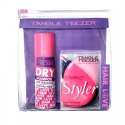 Tangle Teezer Compact Styler Hairbrush Szczotka do włosów + Dry Shampoo Suchy szampon 50ml + Kosmetyczka
