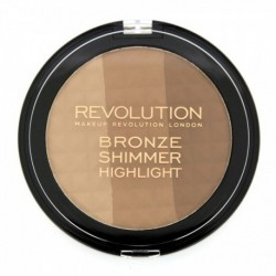 Makeup Revolution Bronze Shimmer Highlight Puder brązujący 15g