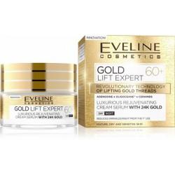 Eveline Gold Lift Expert 60+ Luksusowy odmładzający krem-serum z 24k złotem dzień/noc 50ml
