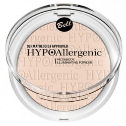 Bell HypoAllergenic Face&Body Illuminating Powder Hypoalergiczny rozświetlacz do twarzy i ciała 01 6g