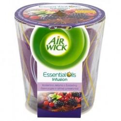 Air Wick Essential Oils Infusion Świeca zapachowa Korzenna Jeżyna z Żurawiną 105g