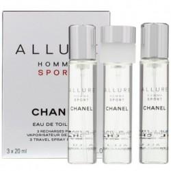 Chanel Allure Homme Sport Woda toaletowa 3 x 20ml spray wkład