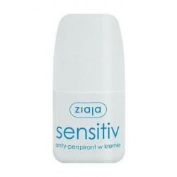 Ziaja Activ roll-on Sensitive Anty-perspirant bez parabenów alkoholu i barwników 60ml w kremie