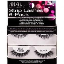 Ardell Strip Lashes 6-Pack Demi Wispiesl 6 par sztucznych rzęs Black