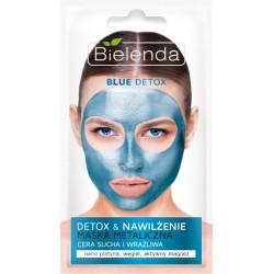 Bielenda Blue Detox Nawilżająca maska metaliczna do cery suchej i wrażliwej 8g