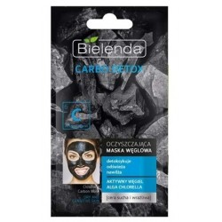 Bielenda Carbo Detox Oczyszczająca maska węglowa dla cery suchej i wrażliwej 8g