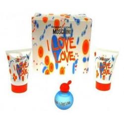 Moschino I Love Love Woda toaletowa 4,9ml + Żel pod prysznic 25ml + Balsam do ciała 25ml