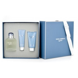 Dolce & Gabbana Light Blue Pour Homme Woda toaletowa 125ml spray + Balsam po goleniu 75ml + Żel pod prysznic 50ml