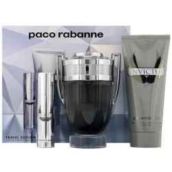 Paco Rabanne Invictus Woda toaletowa 100ml spray + 10ml spray + Szampon 100ml