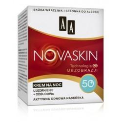 AA Novaskin Night Cream 50+ Krem na noc ujędrnianie + odbudowa do skóry wrażliwej i skłonnej do alergii 50ml