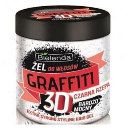 Bielenda Graffiti 3D Bardzo mocny żel do włosów z czarną rzepą 250g