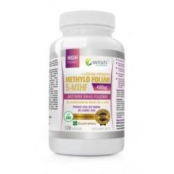 Wish Aktywny Kwas Foliowy Methylo Folian 5-MTHF Suplement diety 120 kapsułek
