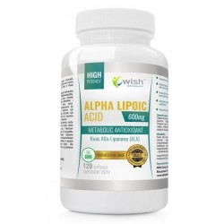 Wish Maetabolic Antioxidant Alpha Lipoic ACID kwas Alfa - Liponowy suplement diety 120 kapsułek