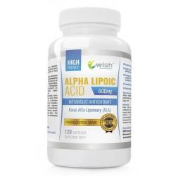 Wish Maetabolic Antioxidant Alpha Lipoic ACID Kwas Alfa Liponowy bez GMO Suplement diety 120 kapsułek