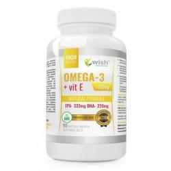 Wish Natural Formula Omega-3 & Vit E Suplement diety 90 kapsułek