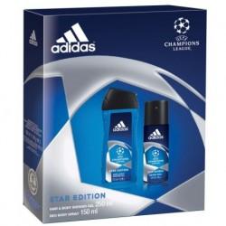 Adidas UEFA Champions League Dezodorant 150ml spray + Żel pod prysznic 250ml