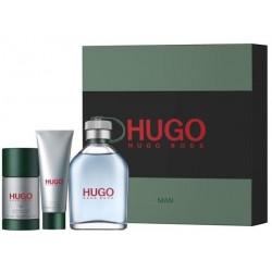 Hugo Boss Hugo Man (Green) Woda toaletowa 125ml spray + Dezodorant 75ml sztyft + Żel pod prysznic 50ml