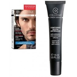Collistar Uomo Krem nawilżający do twarzy z zarostem 50ml + Mini Anti-Wrinkle Eye Contour Creme Krem 15ml