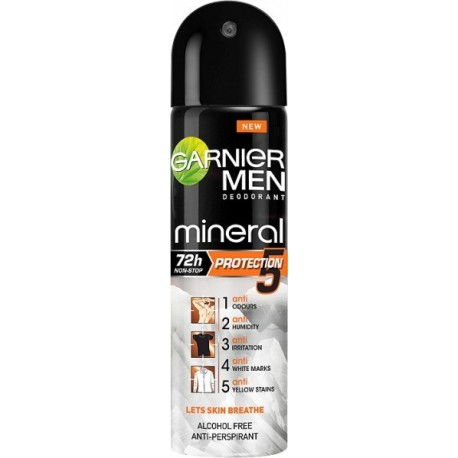 Garnier Men Mineral Protection 5 72h Dezodorant 150ml spray