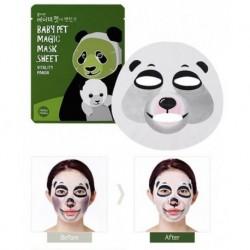 Holika Holika Baby Pet Magic Mask Sheet Vitality Panda Witaminowa maseczka pielęgnacyjna do twarzy na bawełnianej płachcie