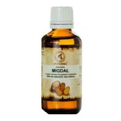 Aromatika 100% Pure & Natural Sweet Almond Oil Naturalny olejek migdałowy 50ml